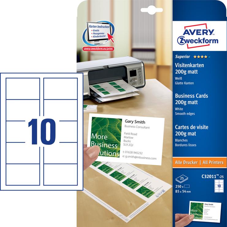 Avery Zweckform Visitenkarten Günstig Kaufen Papersmart