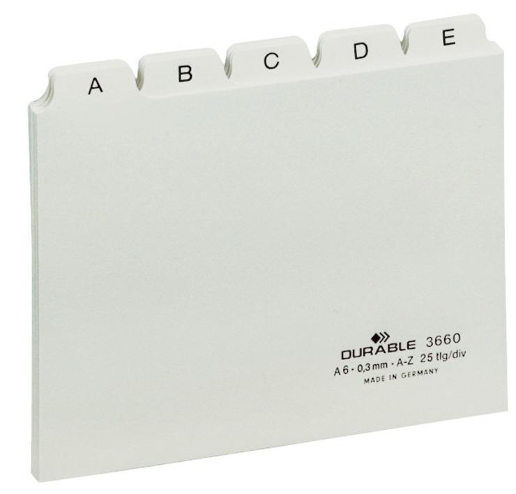 Durable Leitregister A-Z DIN A5 quer weiß