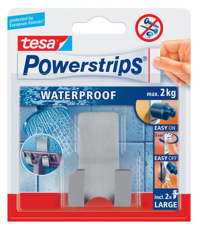 haken abl sbar tesa powerstrips waterproof rasiererhalter. Black Bedroom Furniture Sets. Home Design Ideas