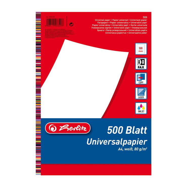 Heftstreifen für 500 blatt  Kopierpapier DIN A4, weiß, 80 g/m², 500 Blatt | Papersmart