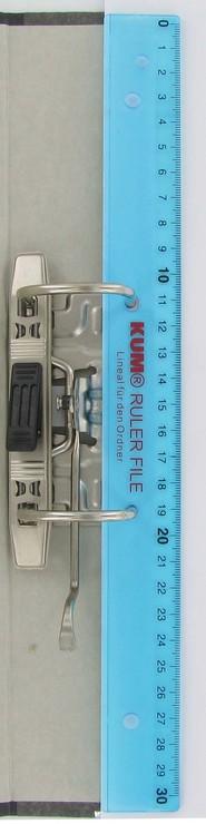 KUM Lineal 30cm GR/ÜN zum Abheften in einen Ordner