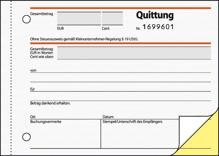 Sigel Quittungen für Kleinunternehmer | Papersmart