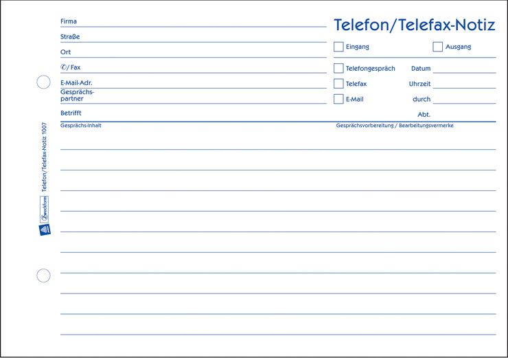 Telefon-/ Telefax-Notiz günstig kaufen | Papersmart